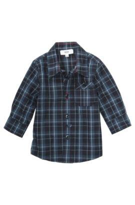 Chemise pour enfants «J05328» en coton, Bleu foncé