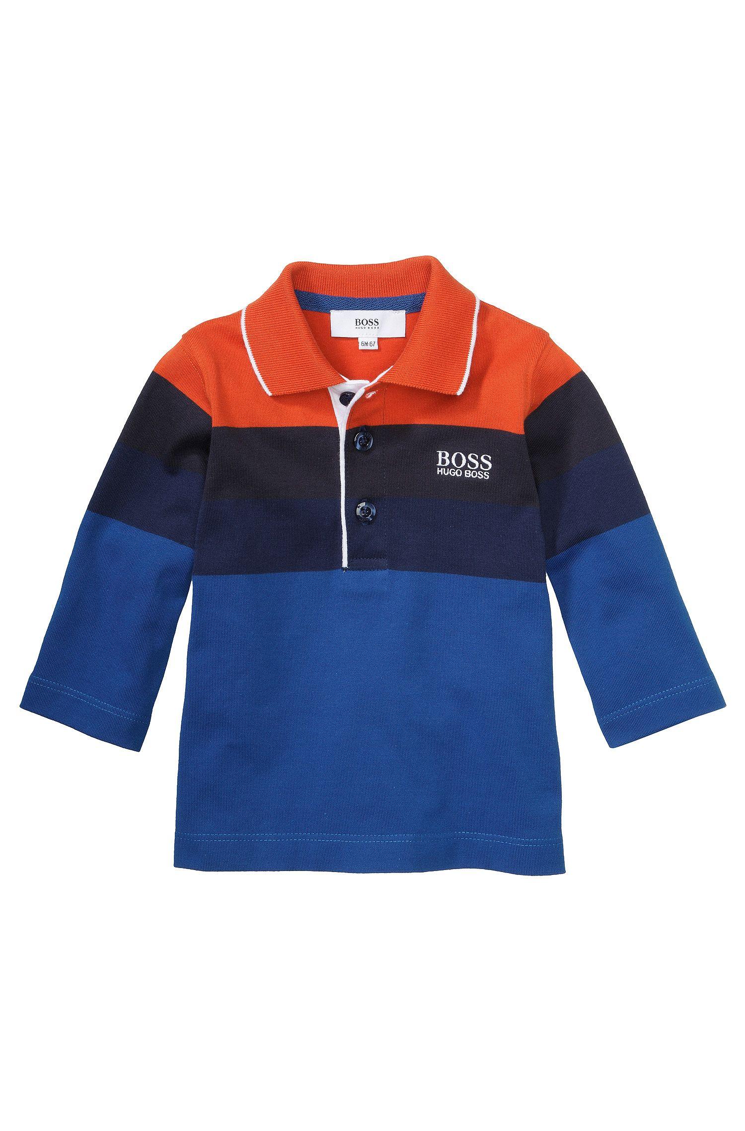 Polo à manches longues pour enfants «J05334» en coton