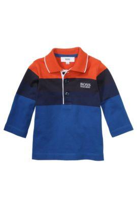 Polo à manches longues pour enfants «J05334» en coton, Bleu