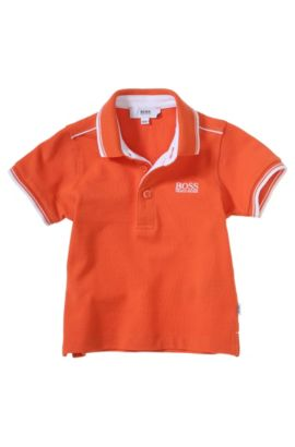 Kids-Piqué-Polo ´J05354` aus Baumwolle, Orange