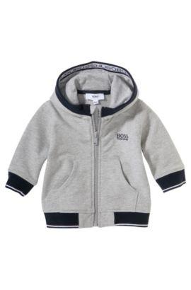Sweatshirtjas met capuchon voor kinderen 'J05358' van een katoenmix, Grijs