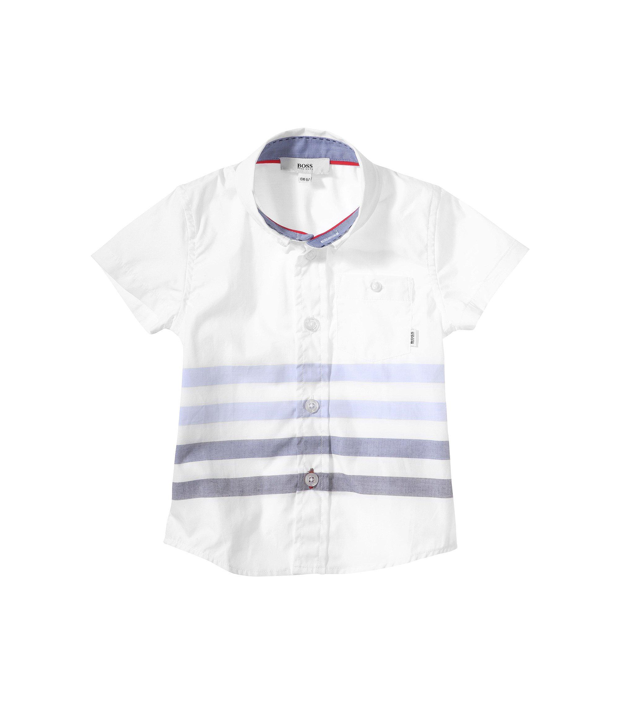 Chemise pour enfant «J05364» avec col button-down, Blanc