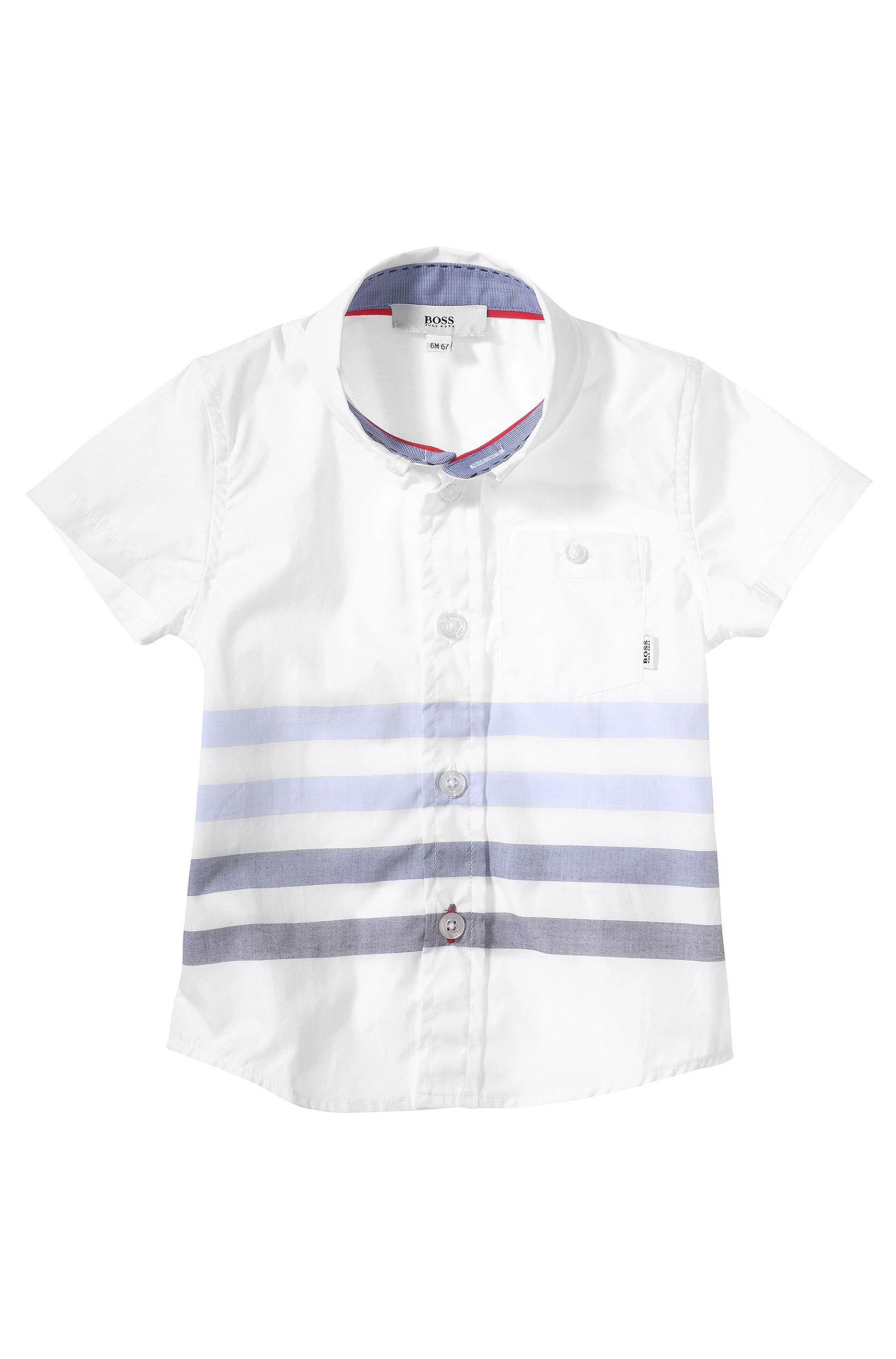 Chemise pour enfant «J05364» avec col button-down
