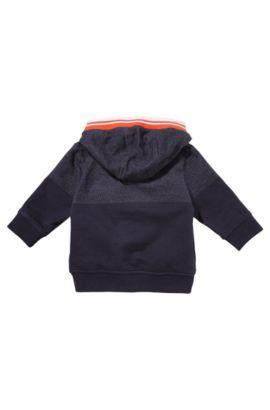 Kids-Kapuzen-Sweatshirt-Jacke ´J05371` aus Baumwolle, Dunkelblau