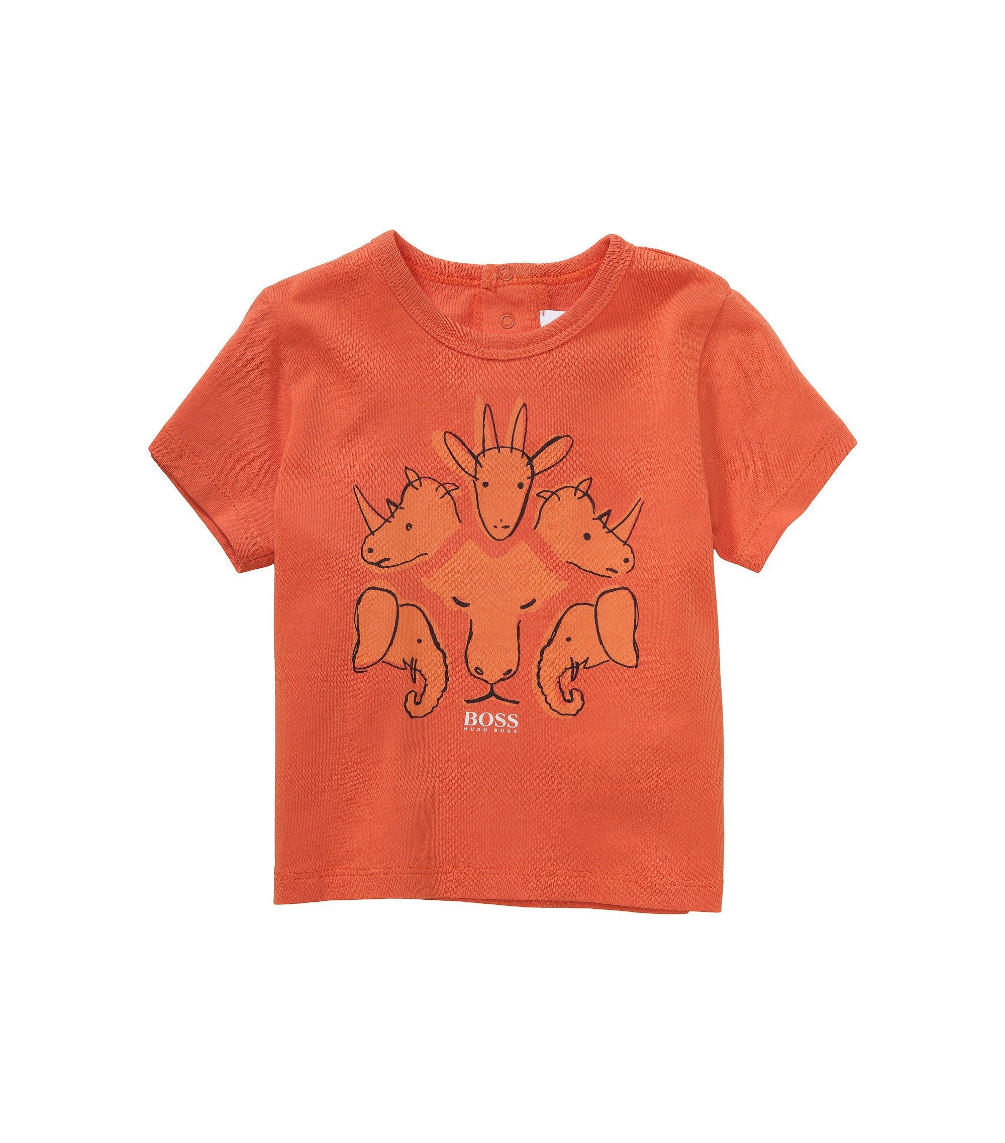 Kids-T-Shirt ´J05379` aus Baumwolle, Orange