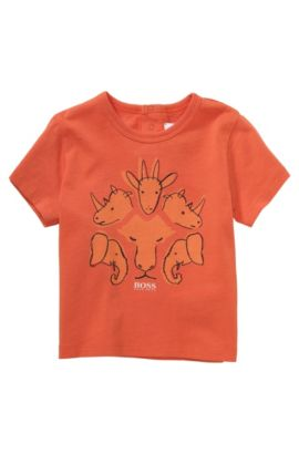 T-shirt pour enfant «J05379» en coton, Orange