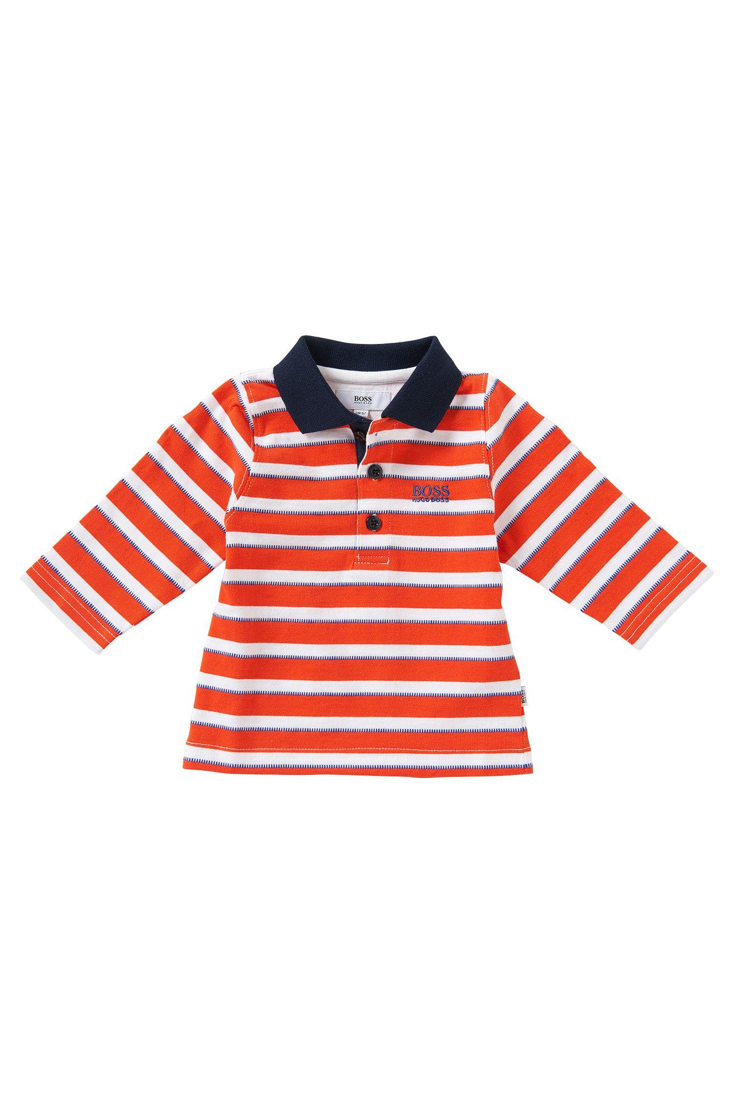 Gestreiftes Baby-Poloshirt aus Baumwolle: 'J05404'