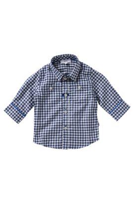 Kinderoverhemd van katoen: 'J05407', Blauw