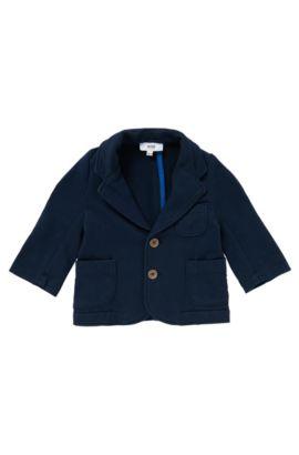 Veste de costume sweat, en coton: «J05411», Bleu foncé