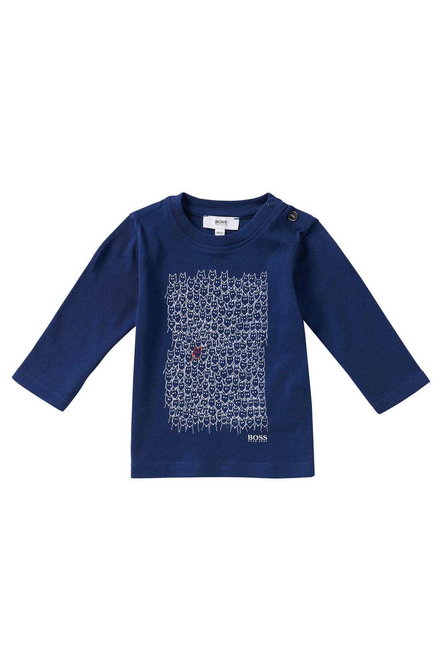 T-shirt manches longues pour enfant en coton: «J05423»