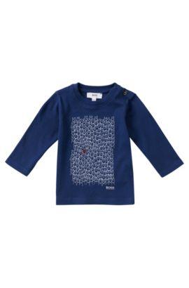 Kindershirt met lange mouwen van katoen: 'J05423', Donkerblauw