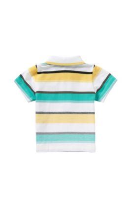Gestreiftes Baby-Poloshirt aus Stretch-Baumwolle: 'J05446', Grün