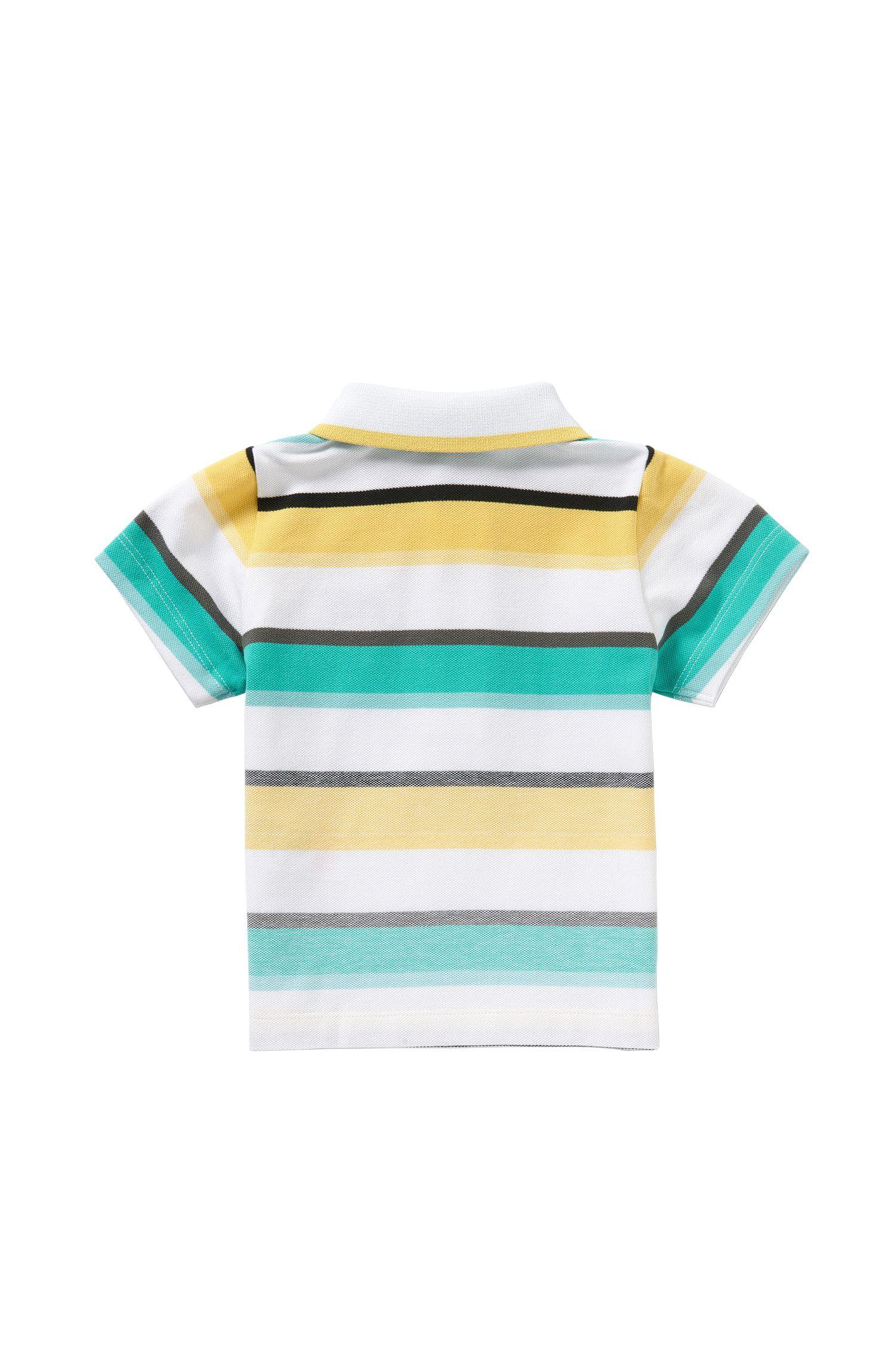 Gestreiftes Baby-Poloshirt aus Stretch-Baumwolle: 'J05446'