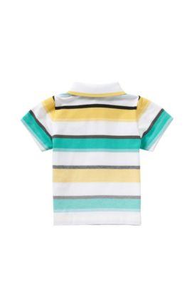 Gestreept babypoloshirt van stretchkatoen: 'J05446', Groen