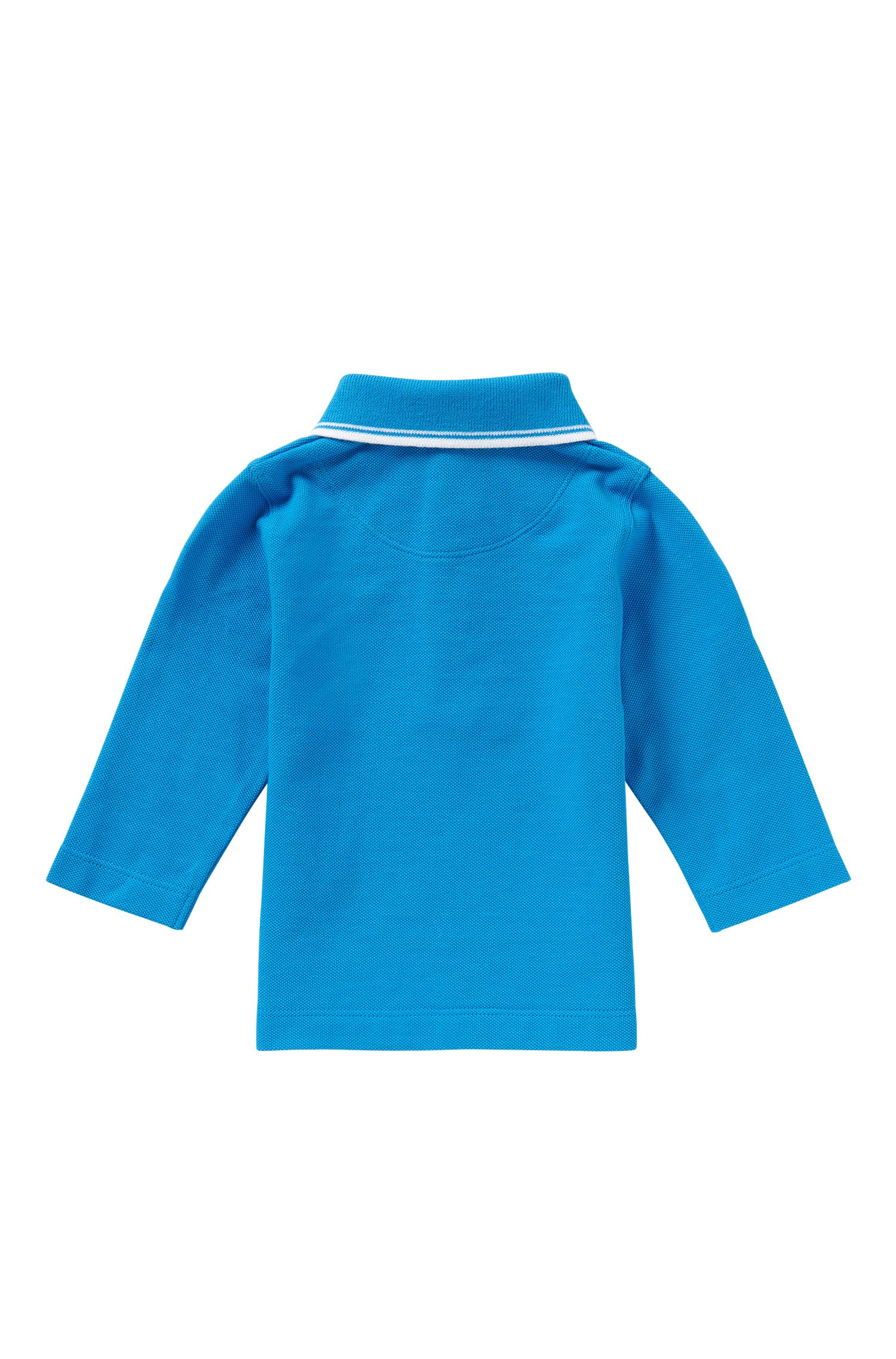 Newborns' long-sleeved polo shirt in cotton: 'J05448'
