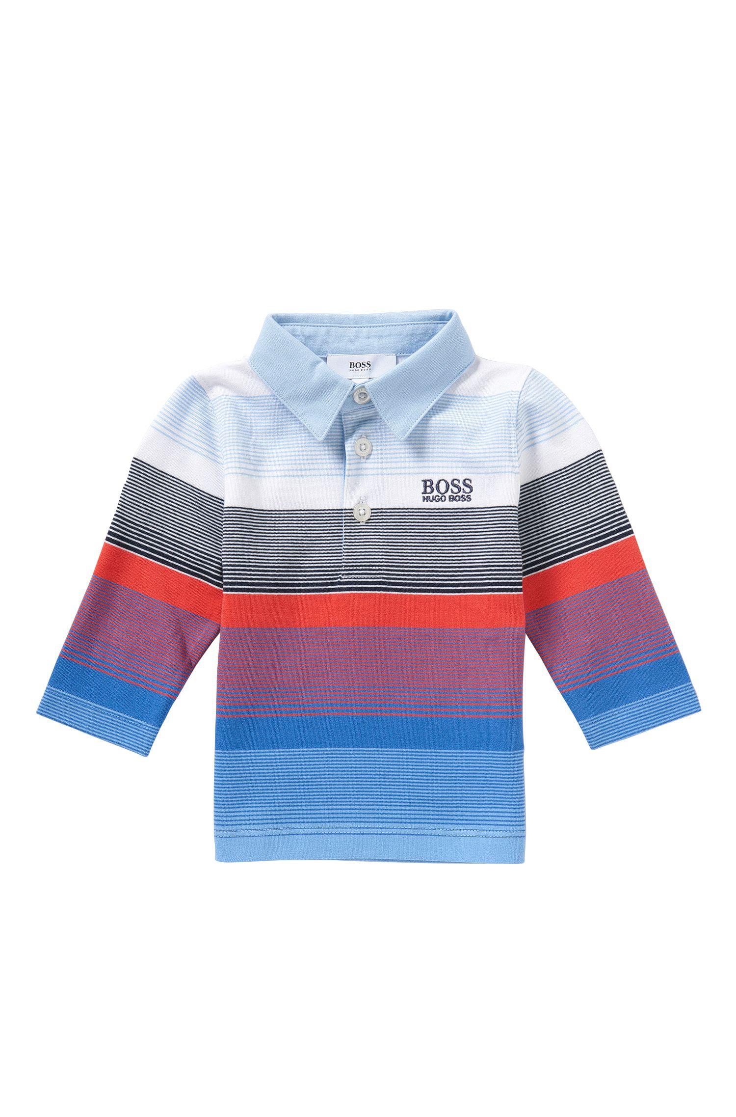 Gestreiftes Baby-Longsleeve-Poloshirt aus Baumwolle: 'J05449'