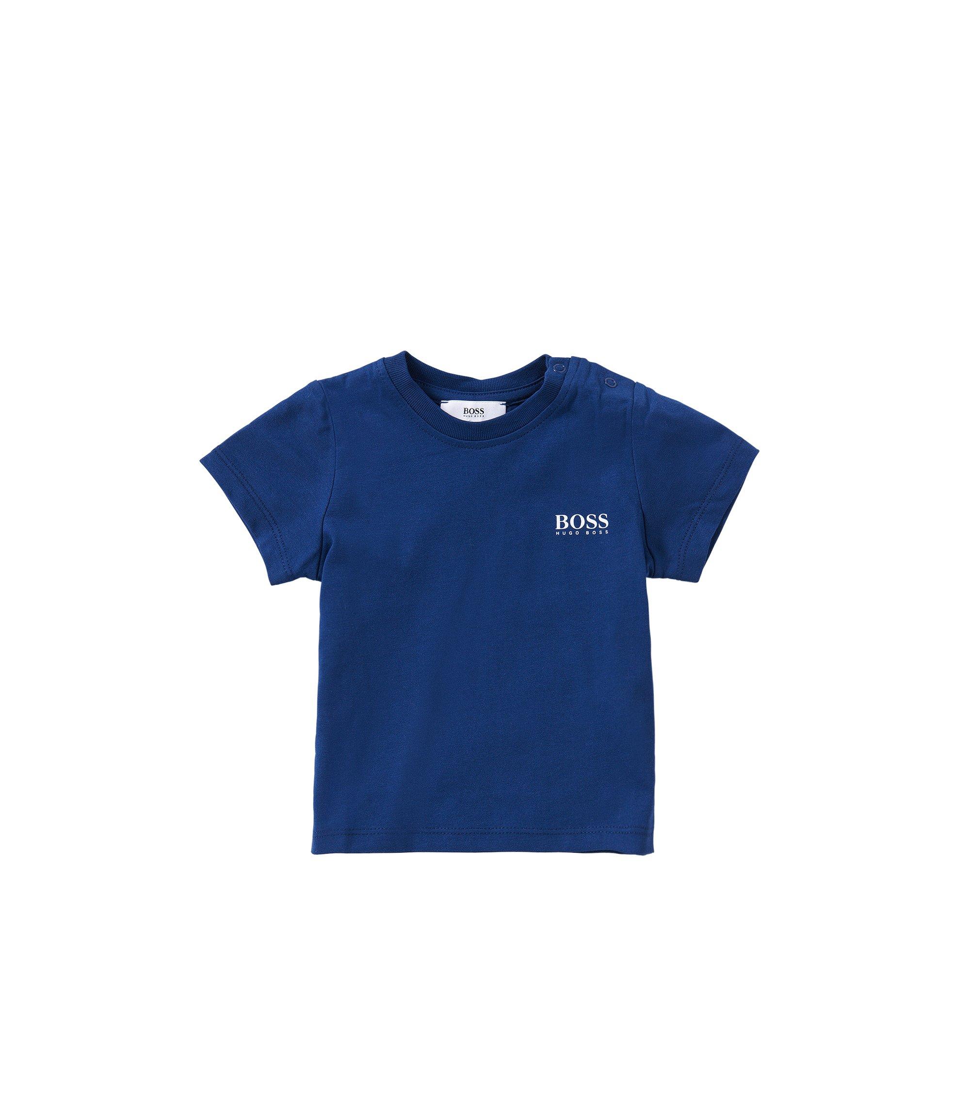 Newborn's cotton t-shirt: 'J05451', Dark Blue