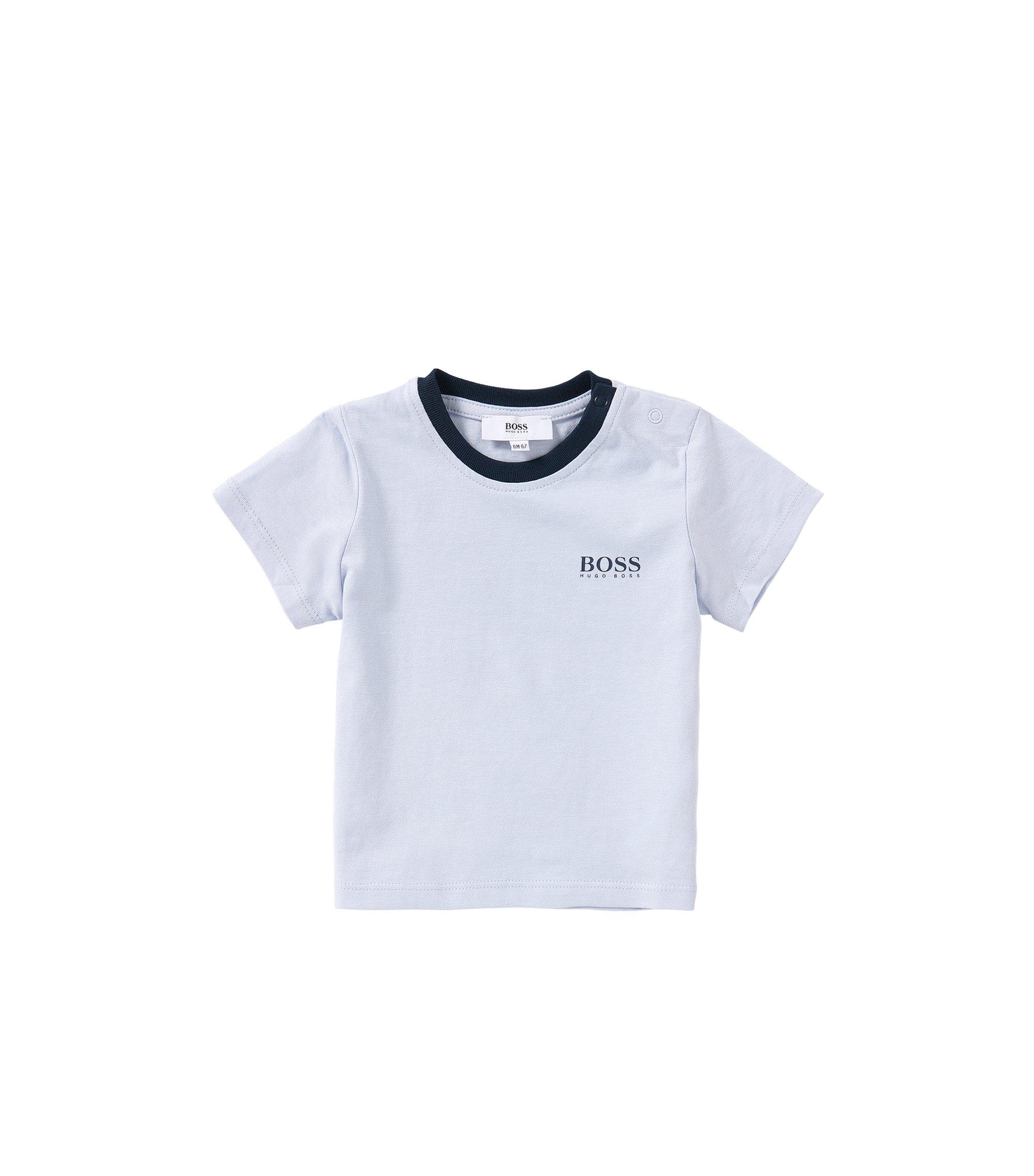 T-shirt pour bébé en coton: «J05451», Bleu vif