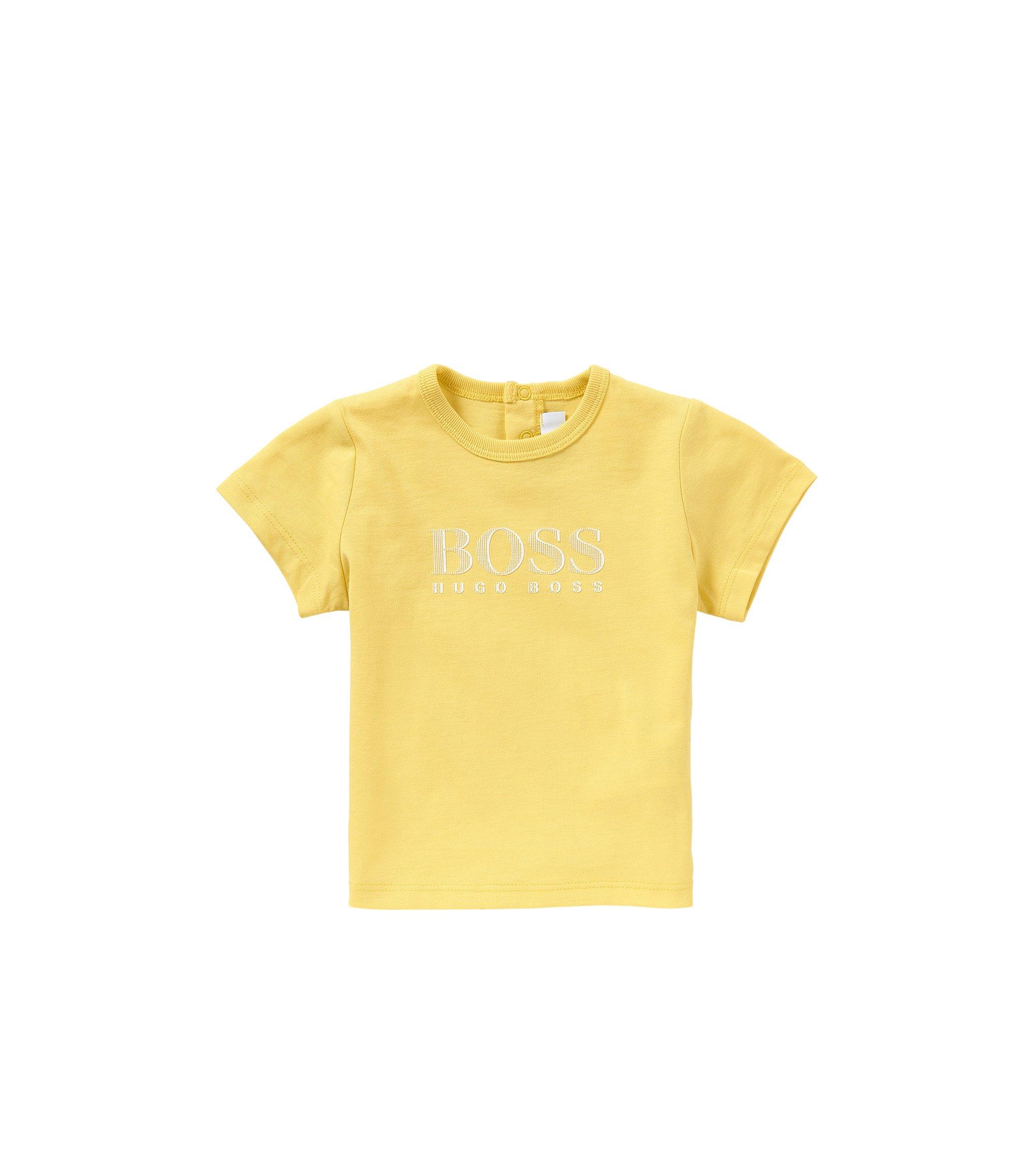 Baby-T-Shirt aus Baumwolle mit Front-Print: 'J05453', Gelb