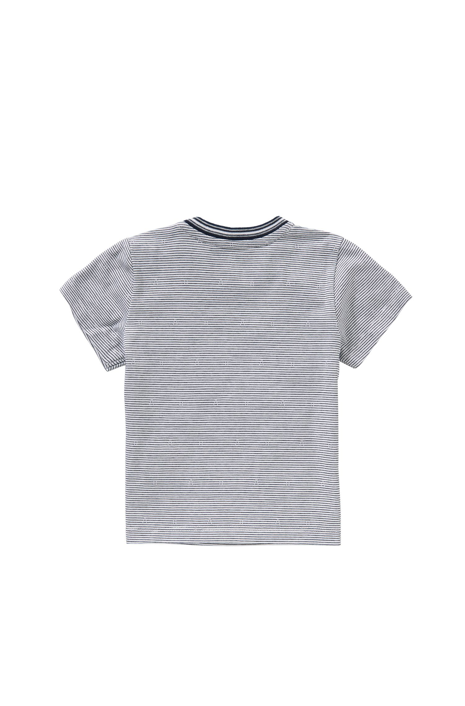 Gestreiftes Baby-T-Shirt aus Baumwolle: 'J05455'