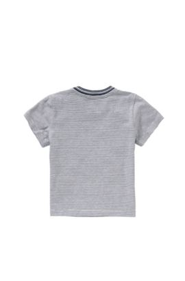 Camiseta a rayas en algodón para bebé: 'J05455', Azul oscuro