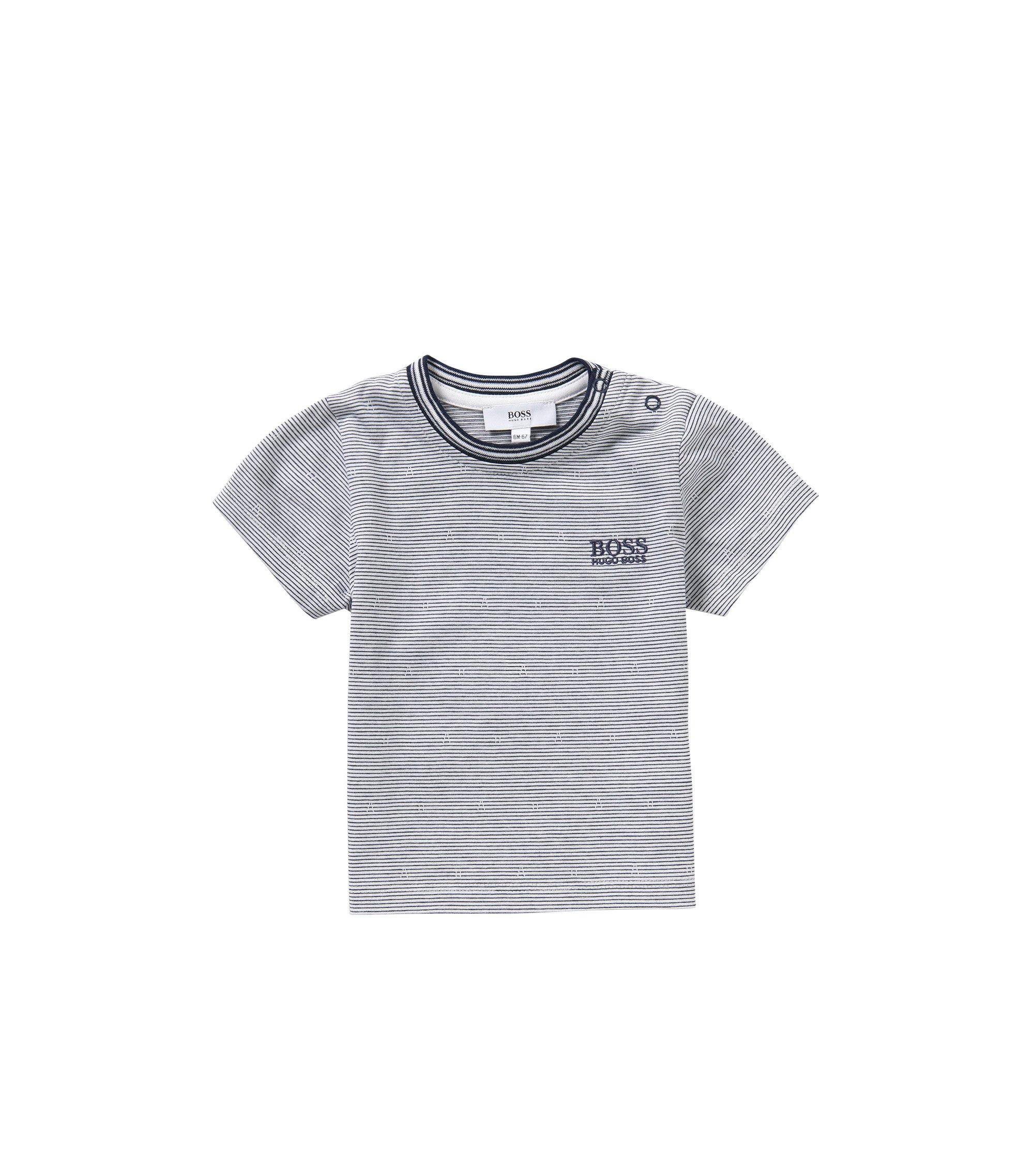 Gestreiftes Baby-T-Shirt aus Baumwolle: 'J05455', Dunkelblau
