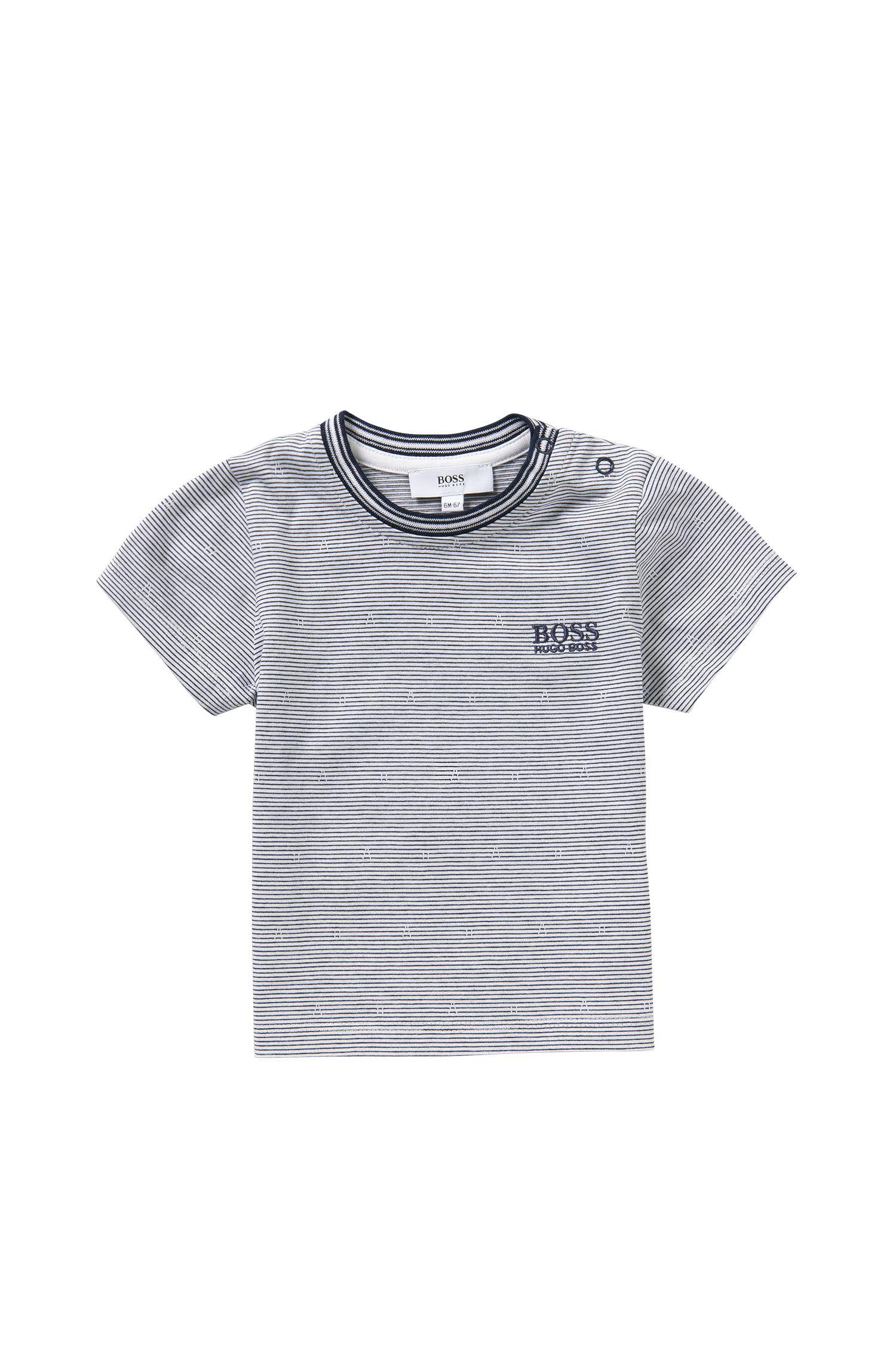 T-shirt pour bébé à rayures en coton extensible: «J05455»