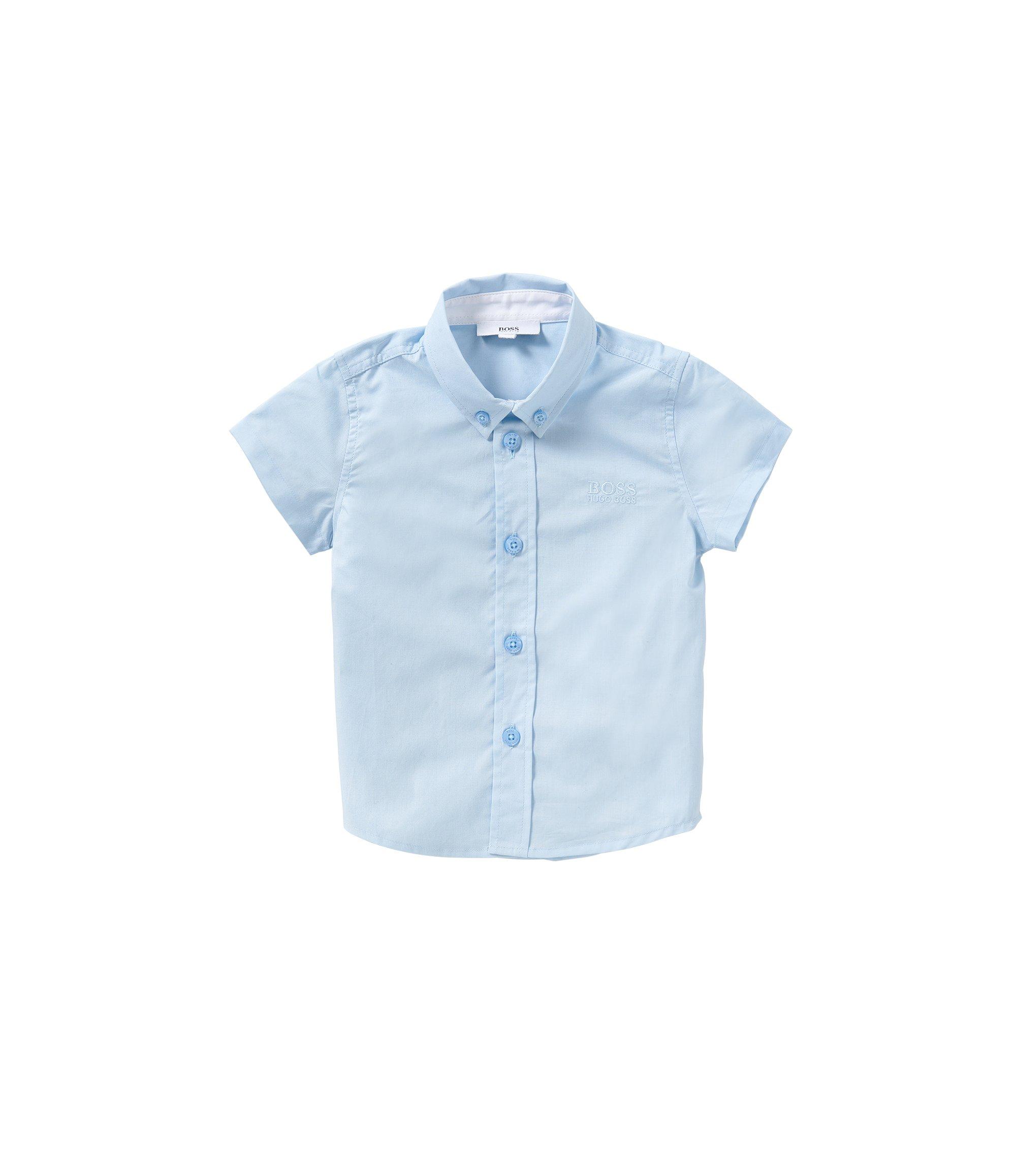 Baby-Hemd aus Baumwolle mit kurzen Ärmeln: 'J05463', Hellblau