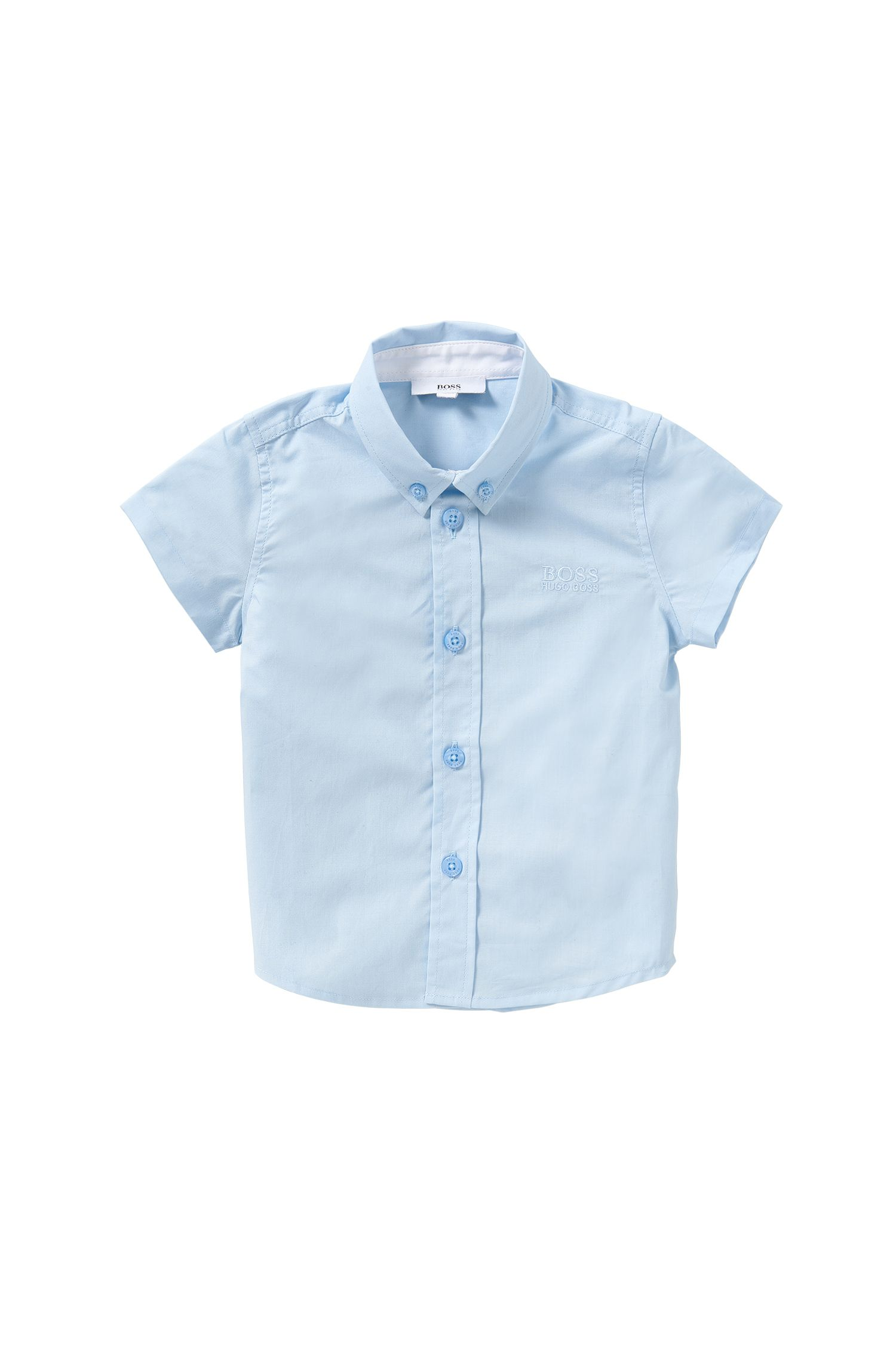 Newborn shirt in cotton with short sleeves: 'J05463'