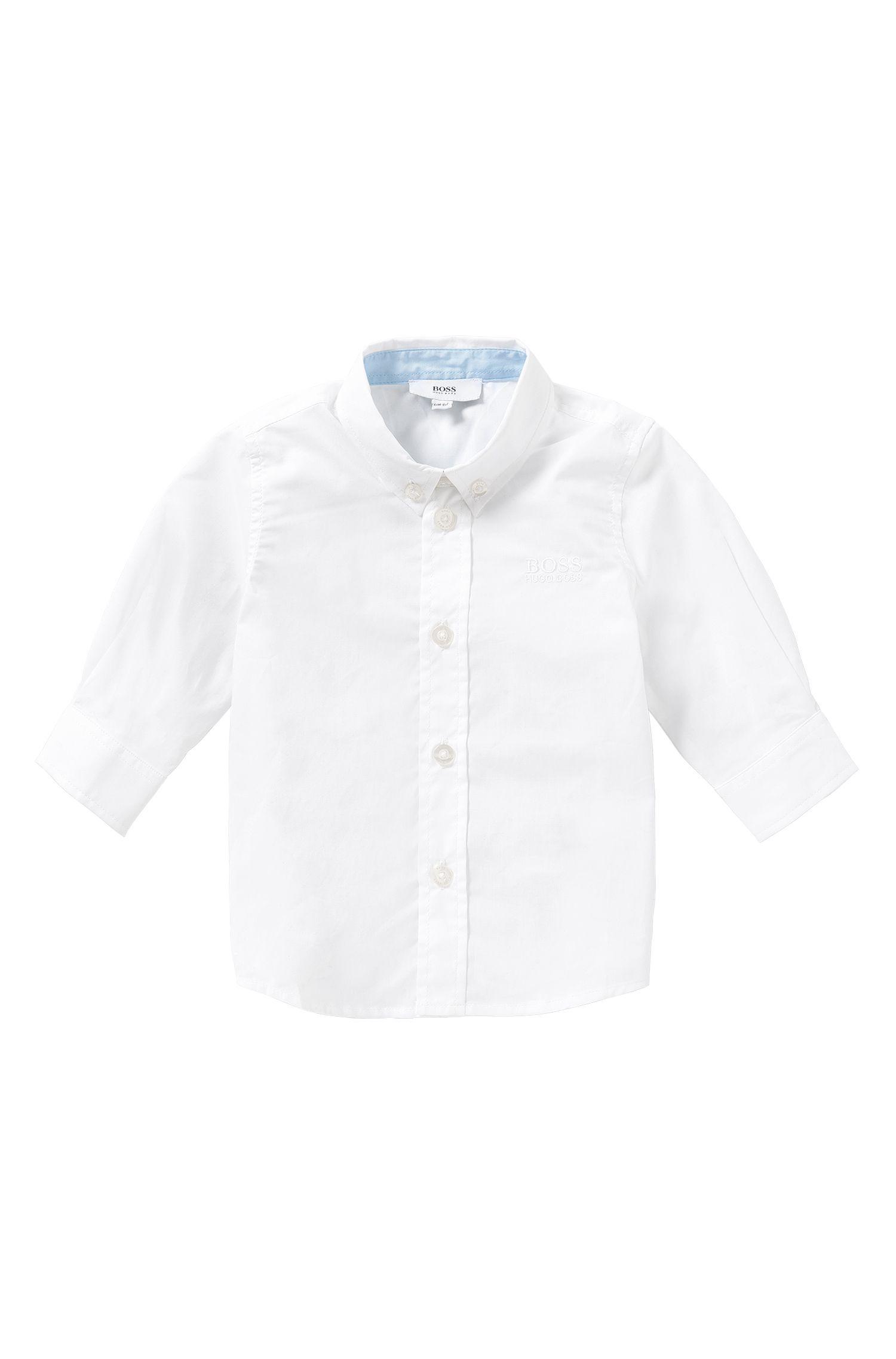 Baby-Hemd aus Baumwolle mit Button-Down-Kragen: 'J05464'