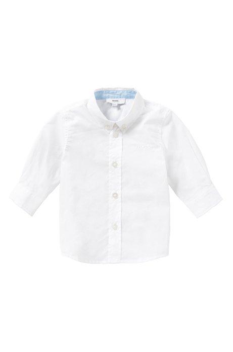 Baby-Hemd aus Baumwolle mit Button-Down-Kragen: 'J05464', Weiß