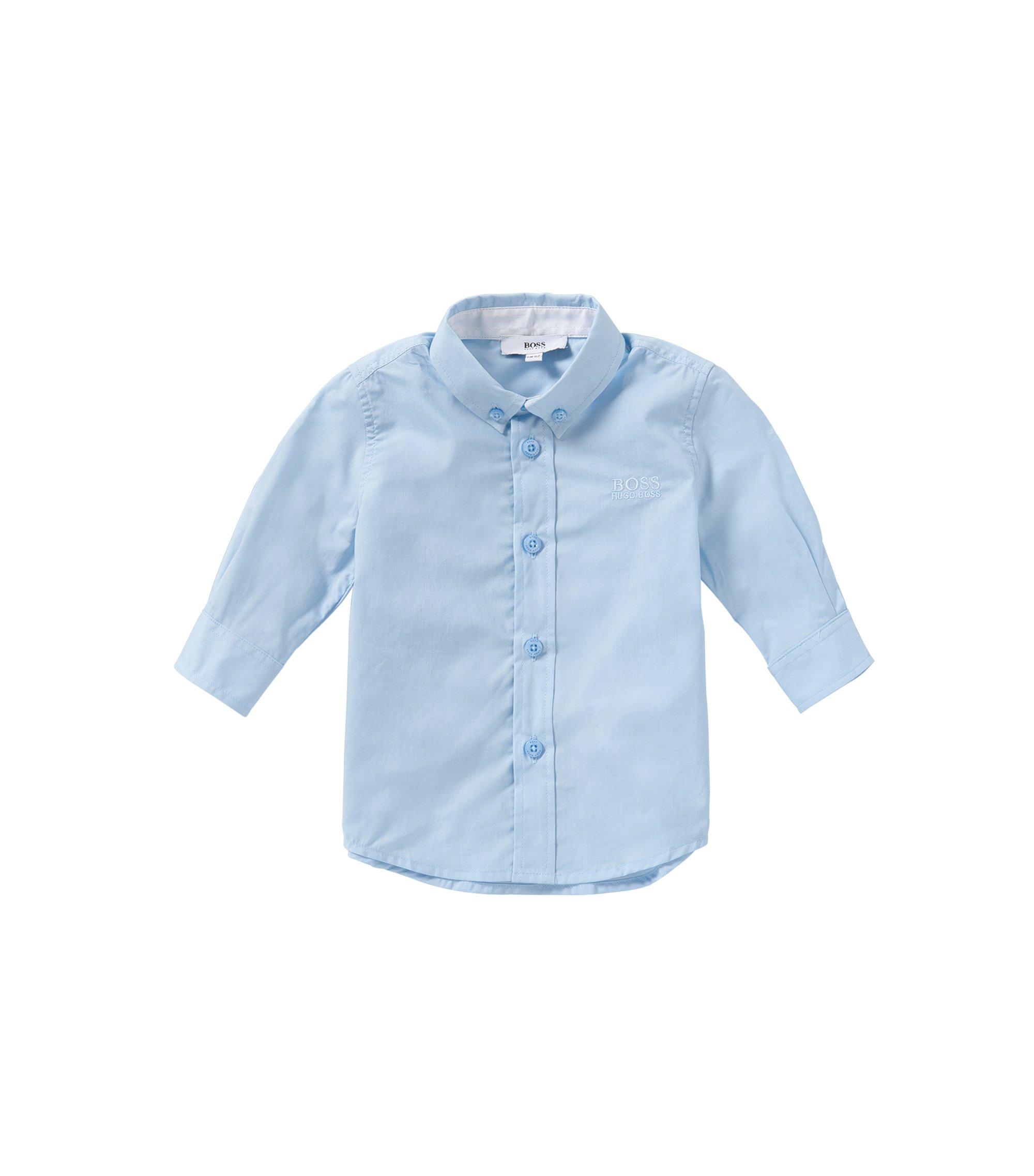 Baby-Hemd aus Baumwolle mit Button-Down-Kragen: 'J05464', Hellblau