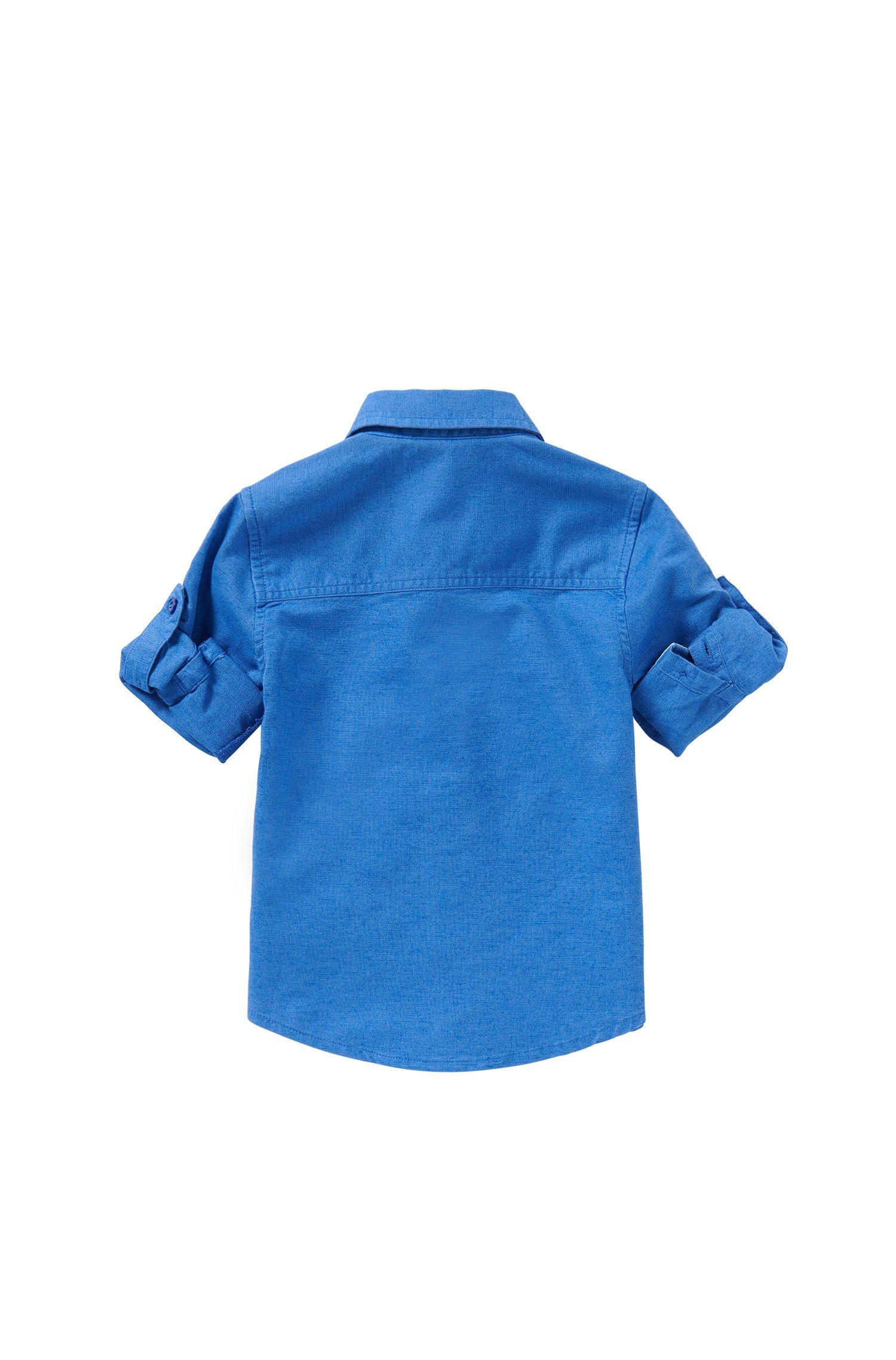 Chemise pour bébé en coton mélangé au look jeans : «J05465»