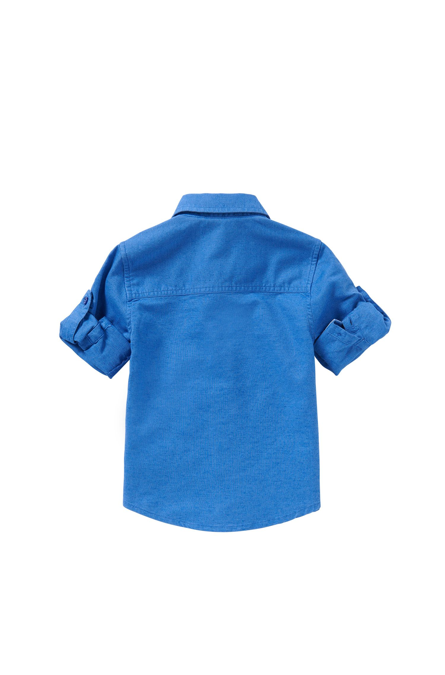 Newborns' shirt made from a cotton blend in jeans look: 'J05465'