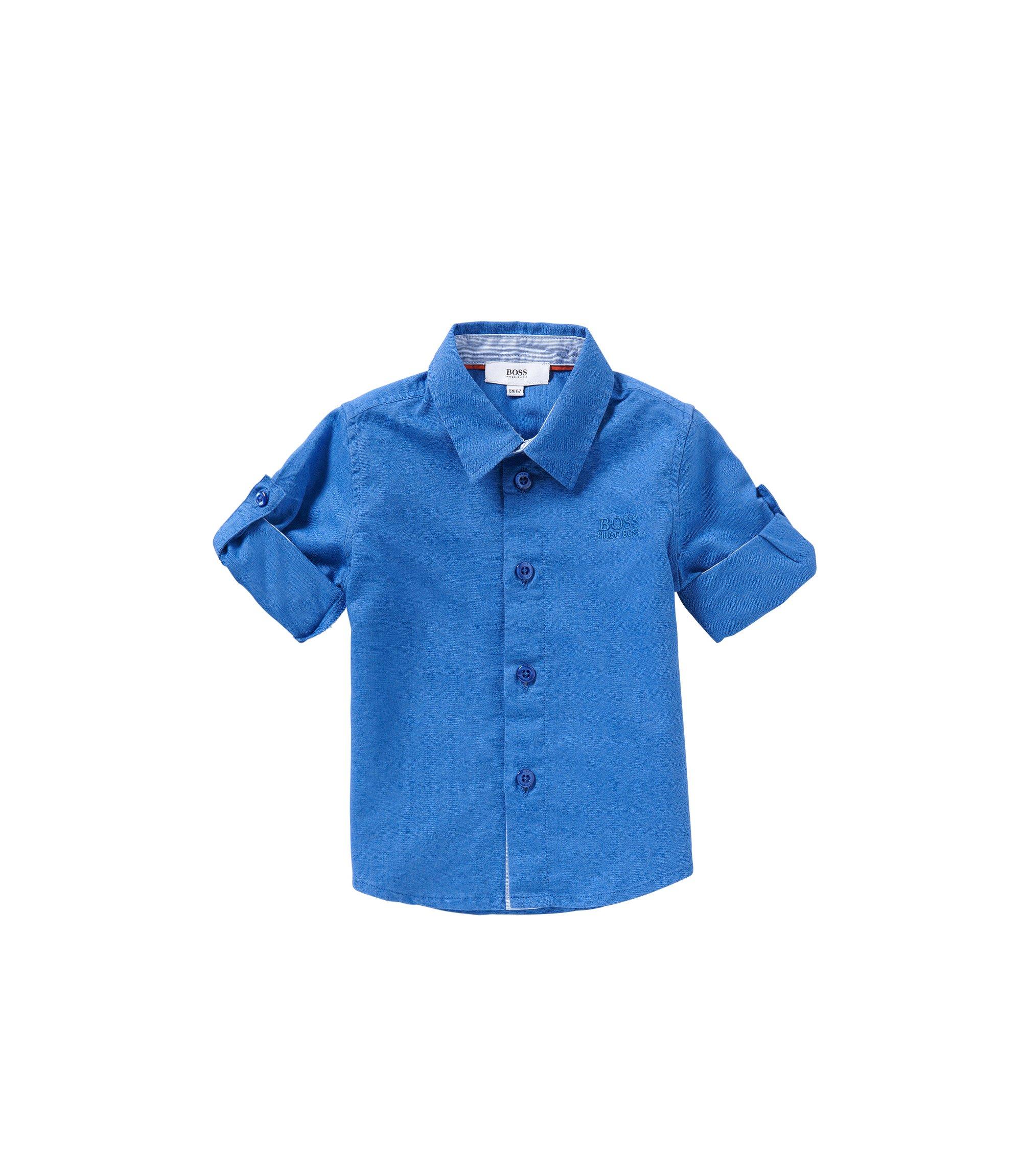 Baby-Hemd aus Baumwoll-Mix im Jeans-Look: 'J05465', Blau