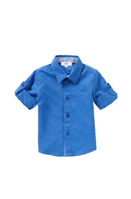 Chemise pour bébé en coton mélangé au look jeans : «J05465», Bleu