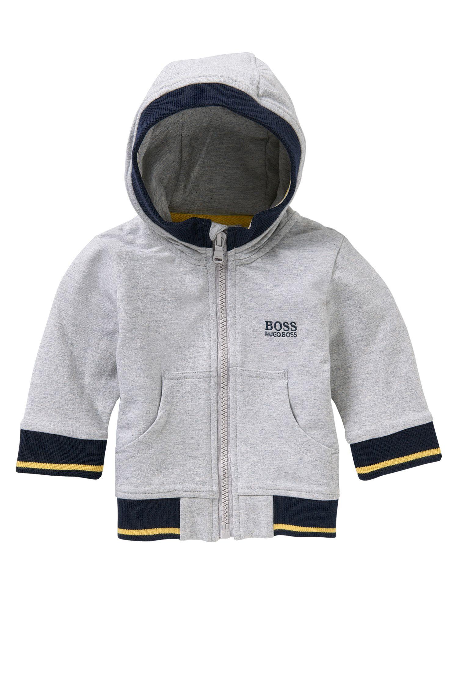 Baby-Kapuzen-Sweatshirt-Jacke aus Stretch-Baumwolle: 'J05468'
