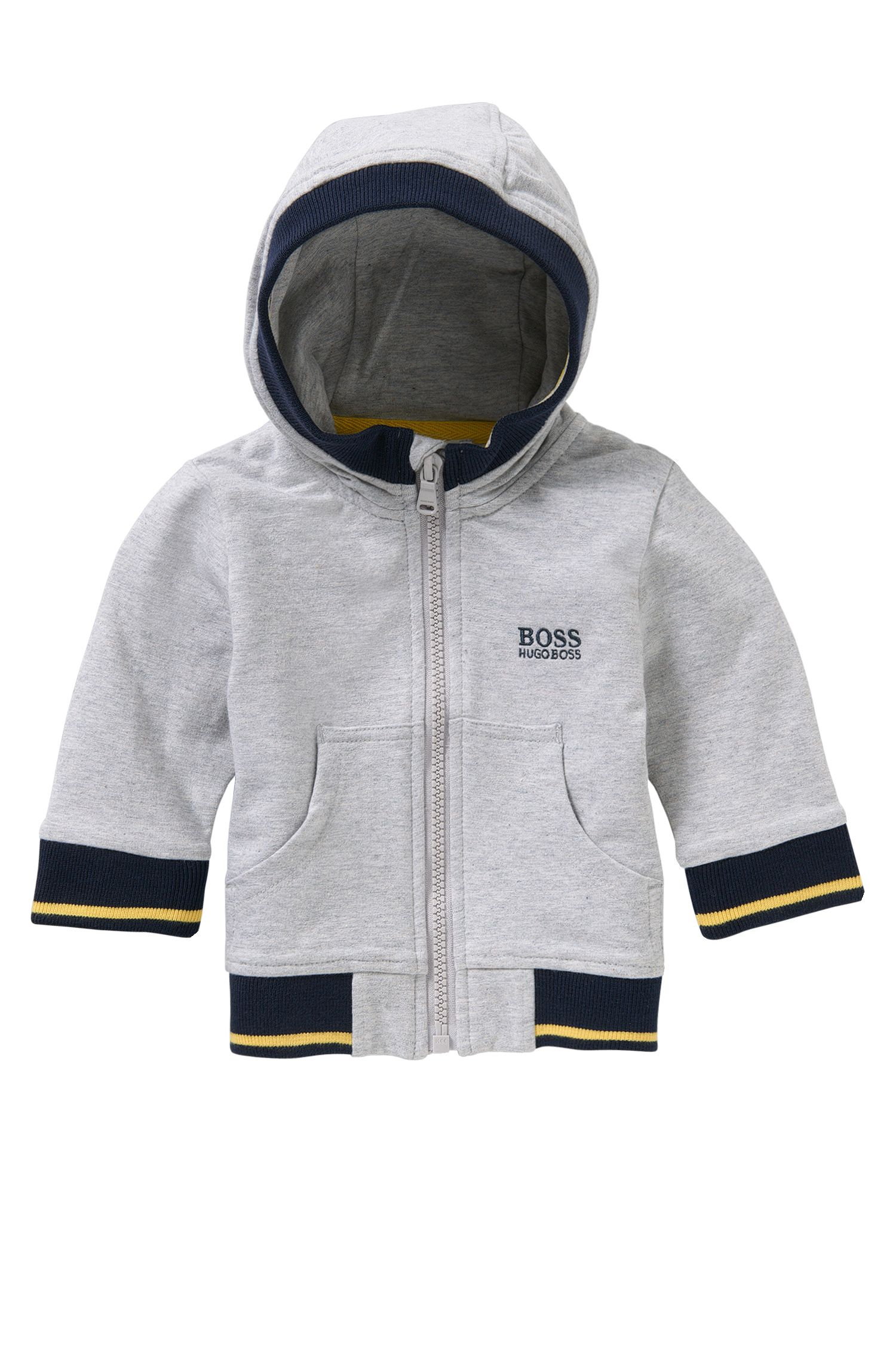 Newborn's hooded jacket in stretch cotton: 'J05468'