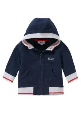 Blouson à capuche pour bébé en coton extensible: «J05468», Bleu foncé