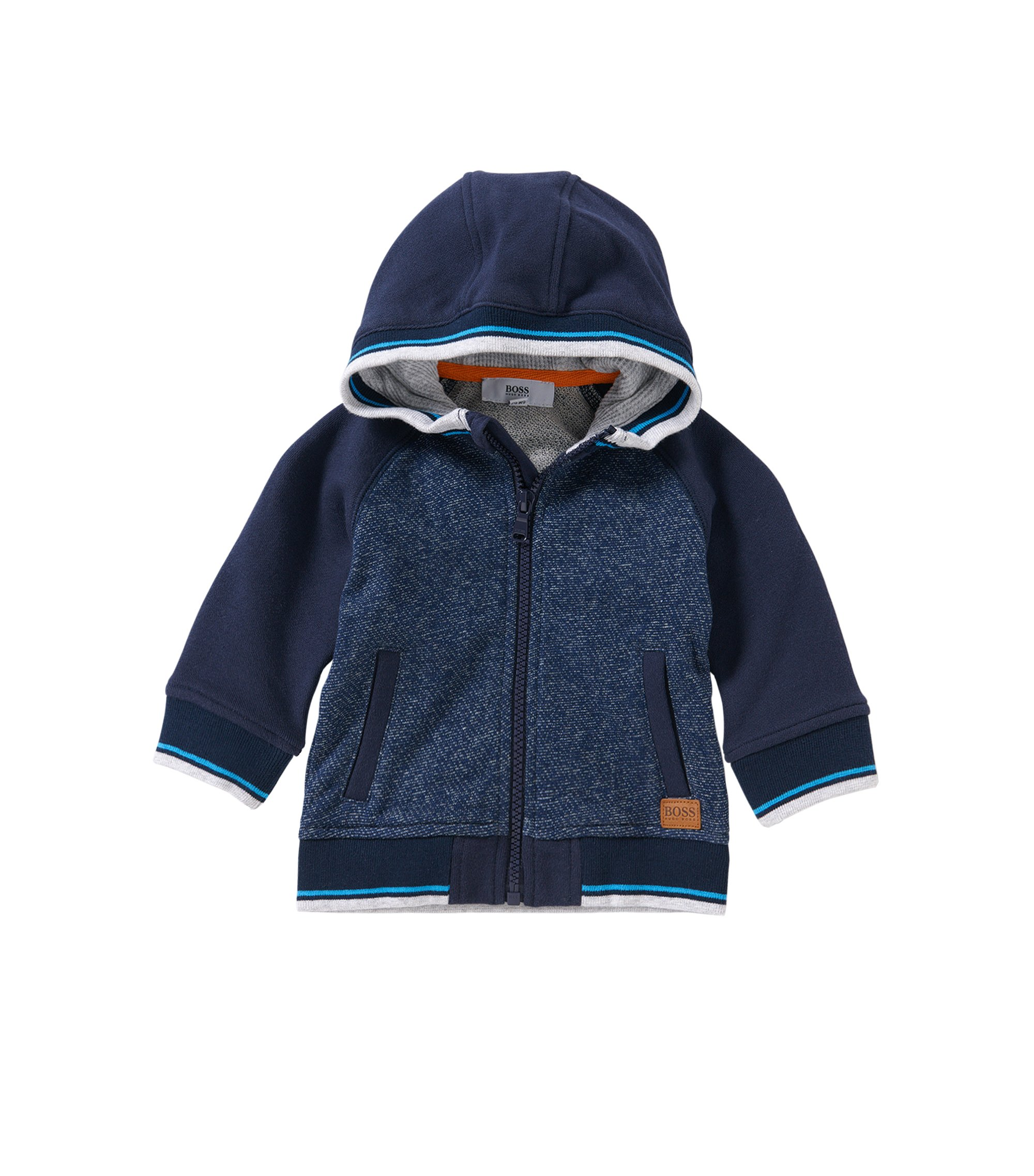 Baby-Kapuzen-Sweatjacke aus Baumwolle: 'J05469', Dunkelblau