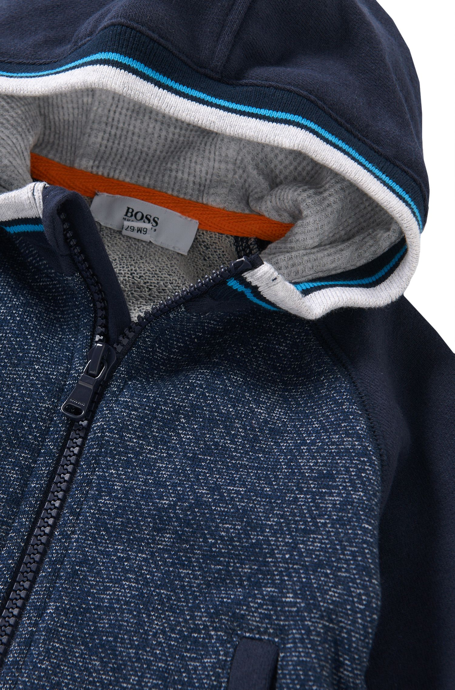 Newborn's hooded sweatshirt jacket in cotton: 'J05469'