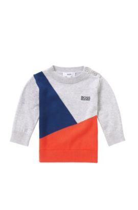 Jersey para bebé en algodón con parte delantera de varios colores: 'J05471', Gris claro