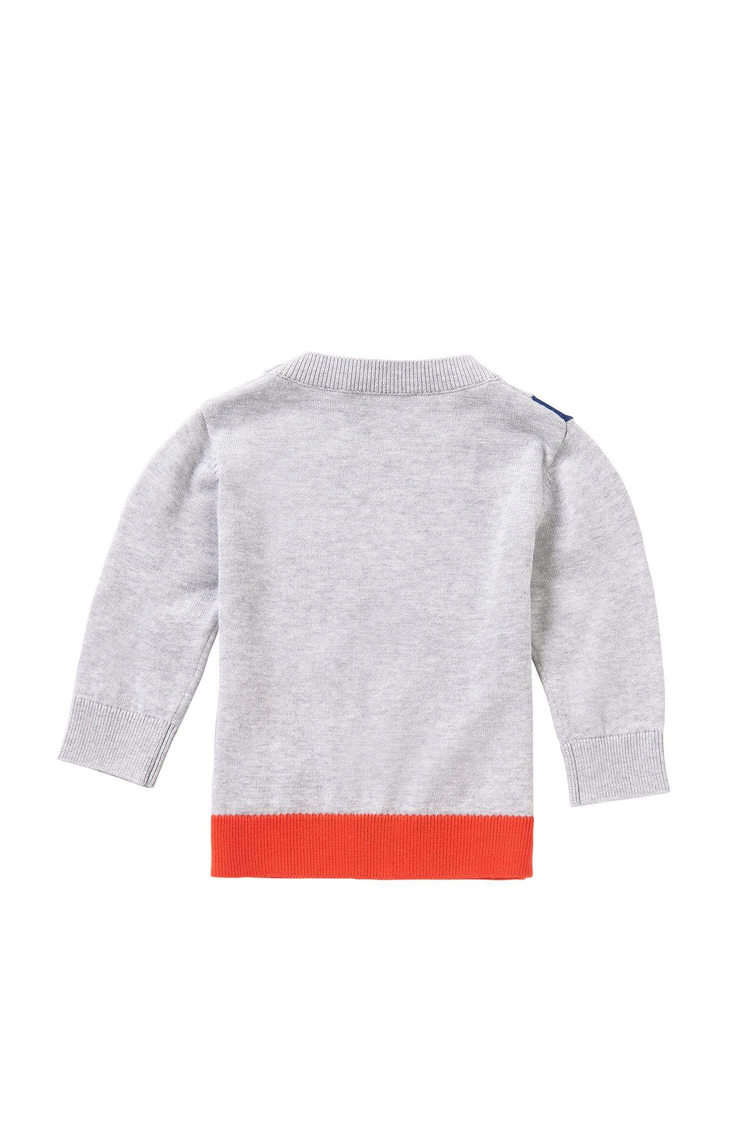 HUGO BOSS Pull pour bébé en coton au design multicolore sur le devant : ? J05471 ?