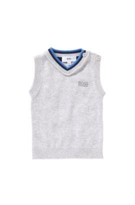 Baby-Pullunder aus Baumwolle: 'J05472', Hellgrau