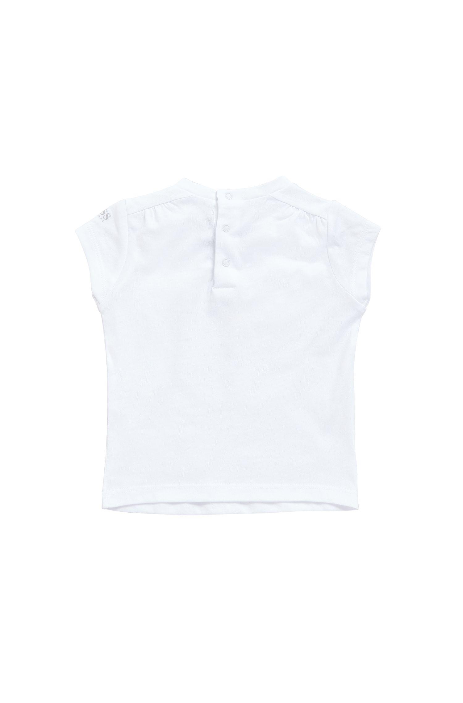 T-shirt pour bébé en mélange de coton et modal, à imprimé brillant: «J05474»