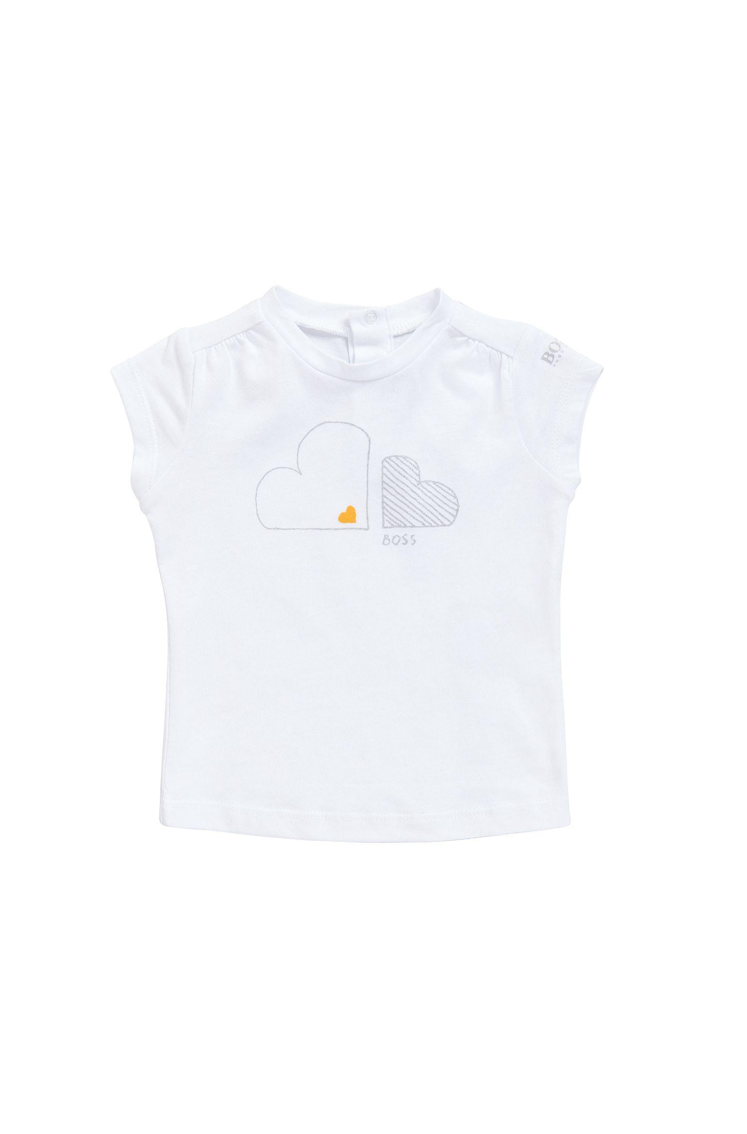 Baby-T-Shirt aus Baumwoll-Modal-Mix mit Glitzer-Print: 'J05474'