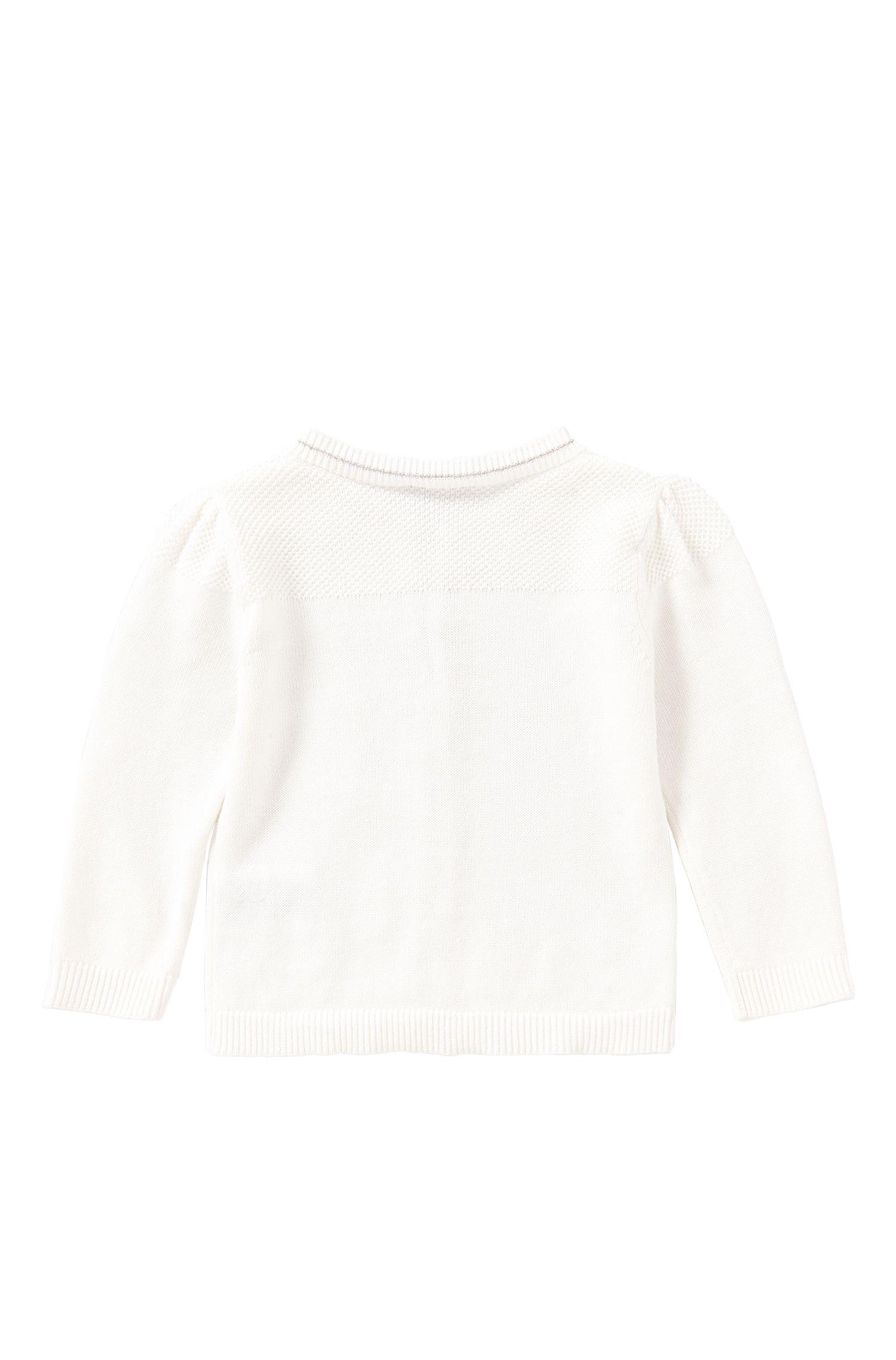 Une veste en maille pour bébé unie, en coton extensible: «J05481»