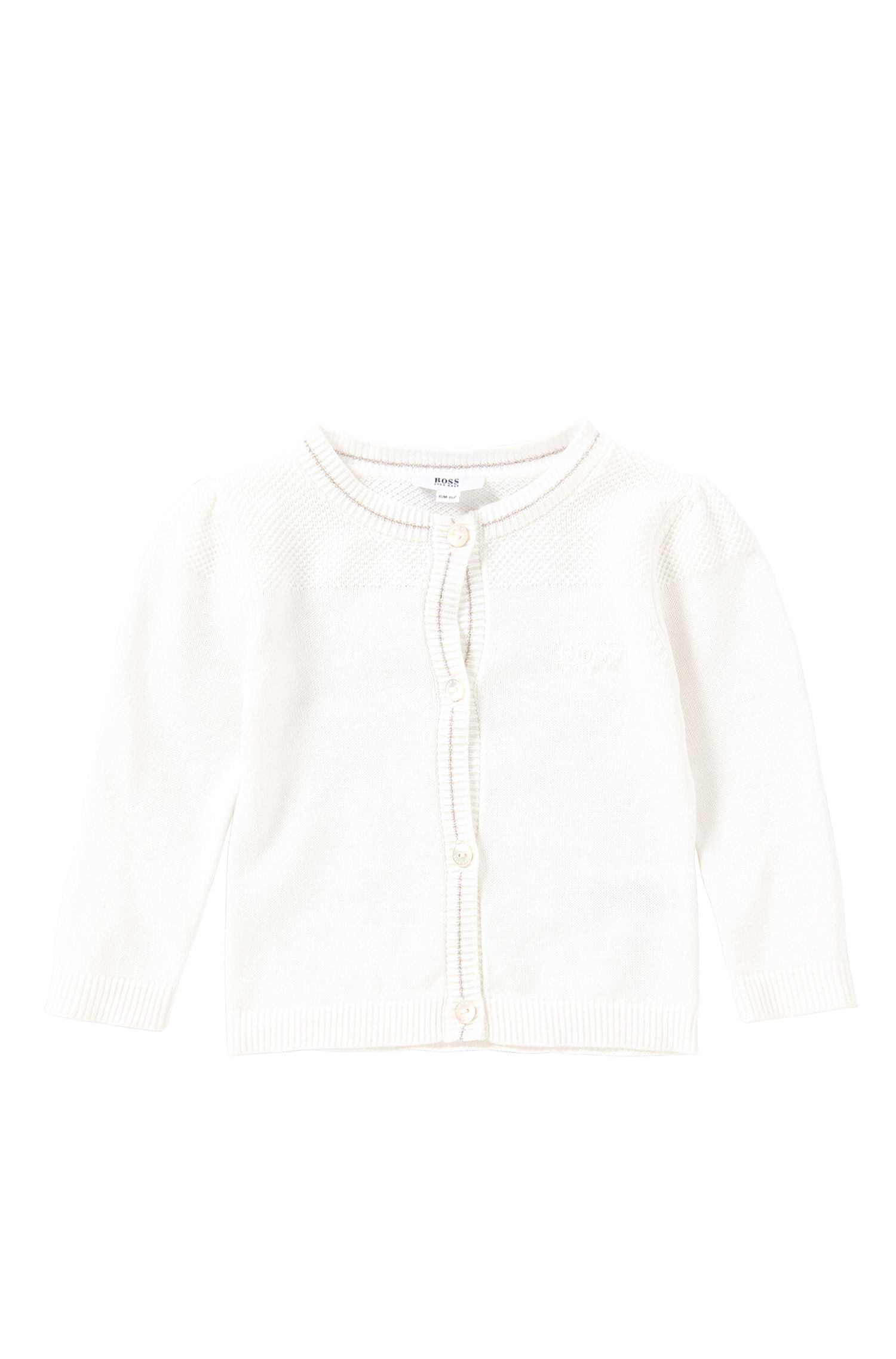 Plain-coloured newborn's cardigan in stretch cotton: 'J05481'