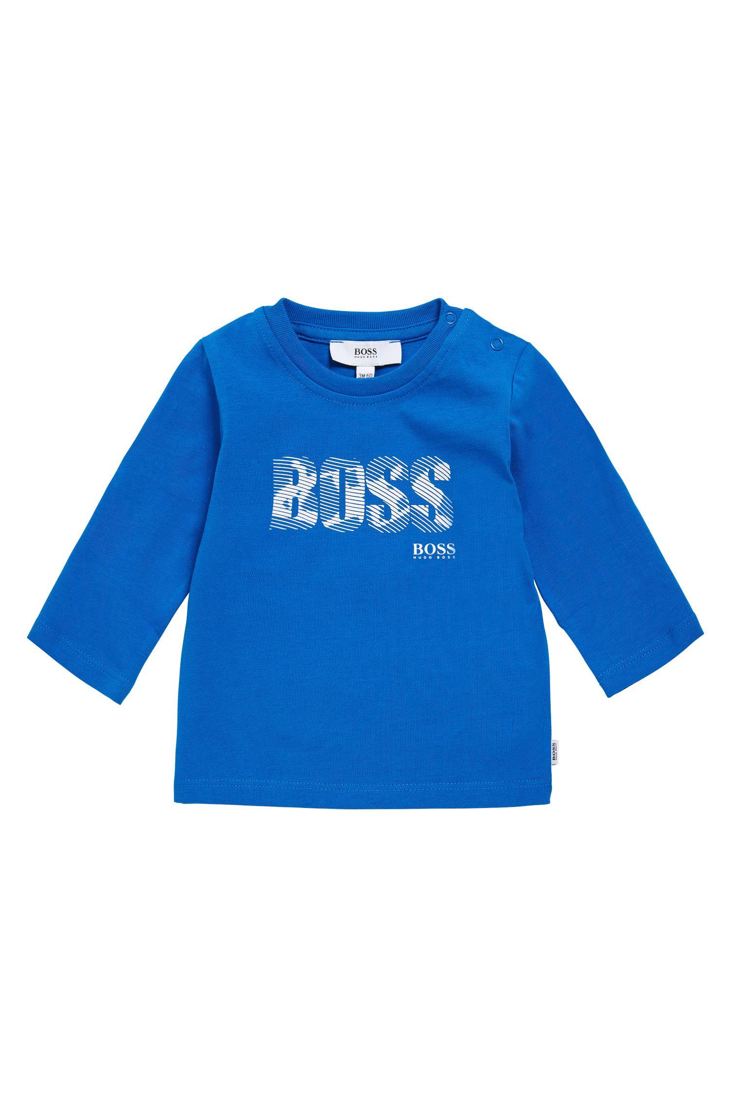 T-shirt à manches longues pour enfant en coton imprimé: «J05502»