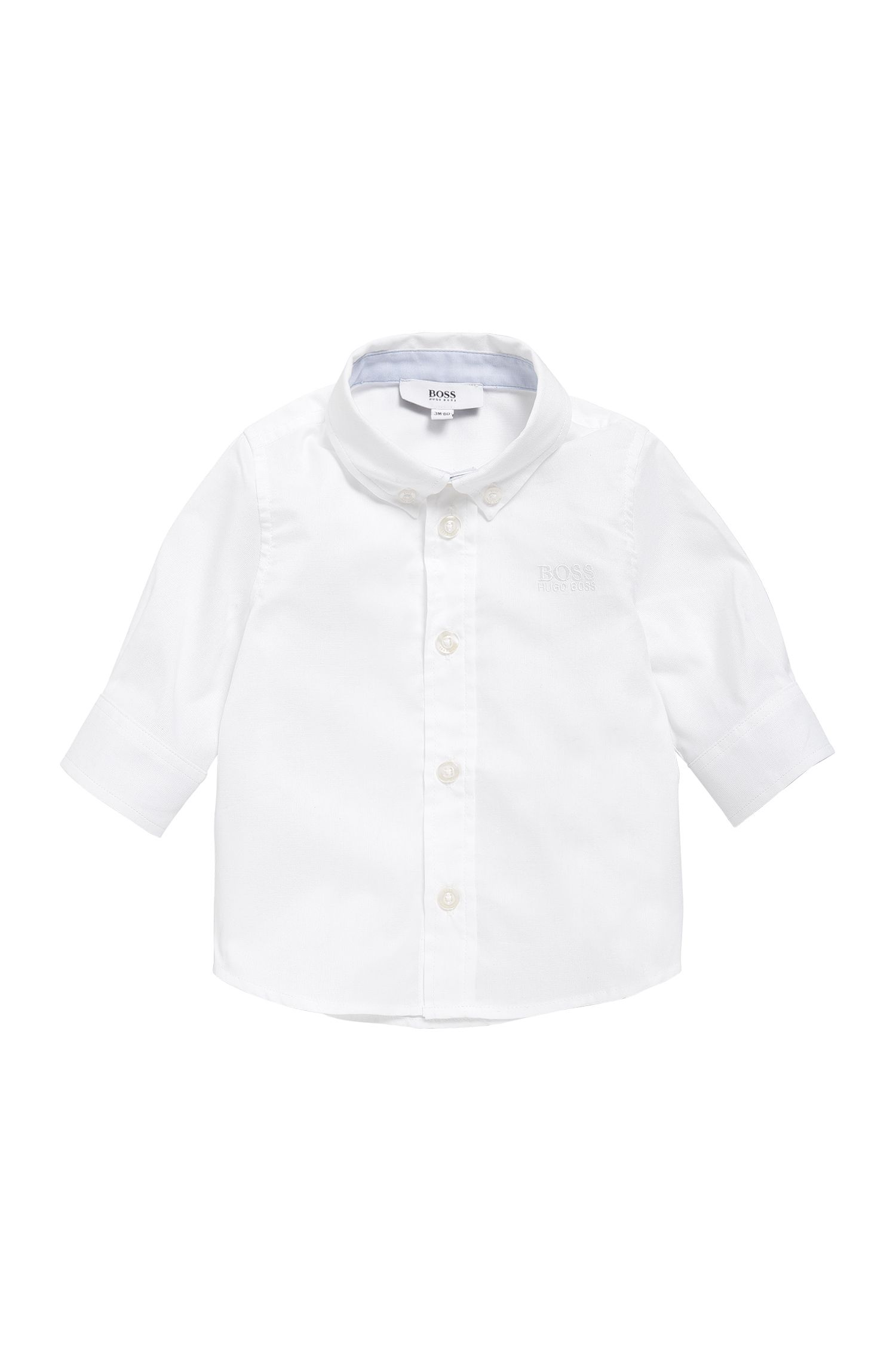 Kids' shirt in cotton with button-down collar: 'J05508'
